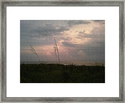 Myrtle Beach At Dusk Framed Print