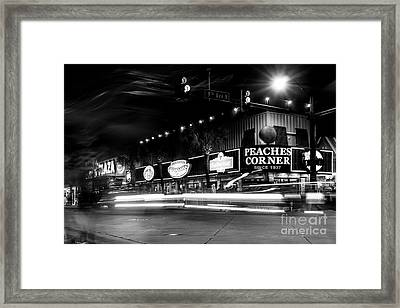 Myrtle Beach Boulevard Black And White Framed Print