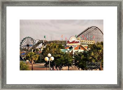 Myrtle Beach Pavillion Amusement Park Framed Print