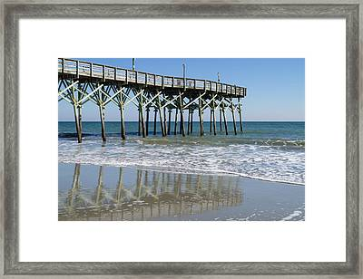 Myrtle Beach Pier Framed Print by MM Anderson