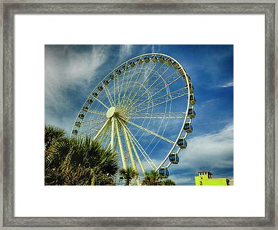 Framed Print featuring the photograph Myrtle Beach Skywheel by Bill Barber