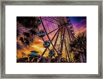 Myrtle Beach Skywheel Framed Print