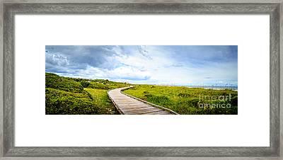Myrtle Beach State Park Boardwalk Framed Print