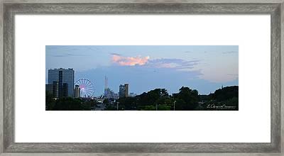 Myrtle Beach Sunset Framed Print by Gordon Mooneyhan