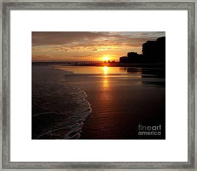 Myrtle Beach Sunset Framed Print by Patricia L Davidson