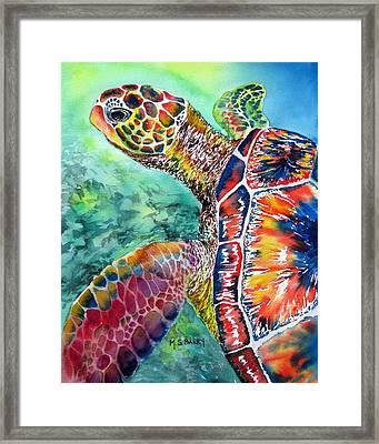 Myrtle The Turtle Framed Print