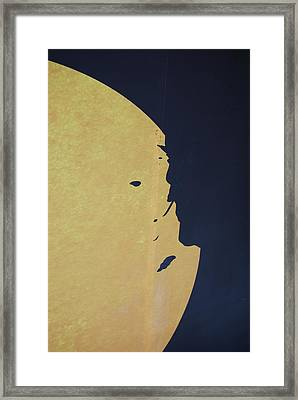 Mysteries Face Framed Print by Michael L Gentile