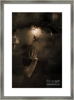 Mysteries Of Time Framed Print