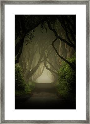 Mysterious Alley At Dawn Framed Print