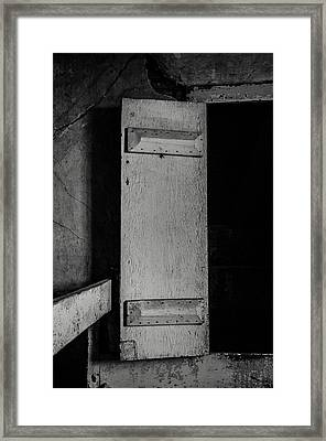 Mysterious Attic Door  Framed Print by Off The Beaten Path Photography - Andrew Alexander