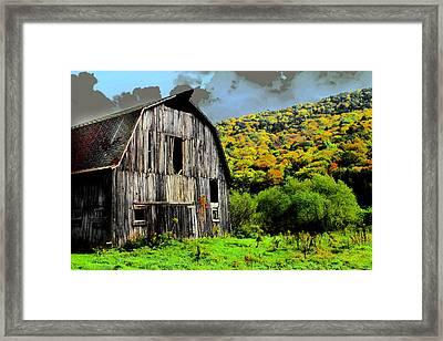 Mysterious Barn Framed Print by Barry Shaffer
