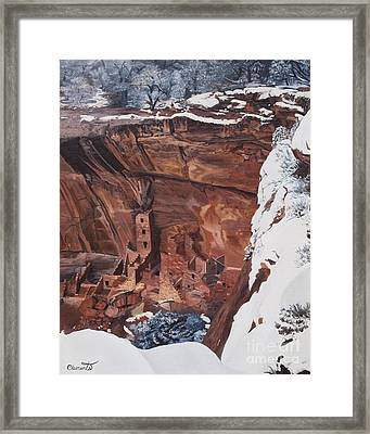 Mysterious City Of The Anasazi - Mesa Verde Framed Print