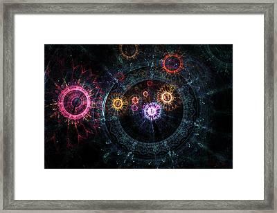Mysterious Clockwork Framed Print by Julian Ray