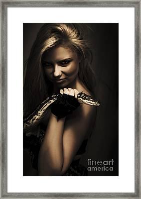 Mysterious Dark Sorceress Framed Print