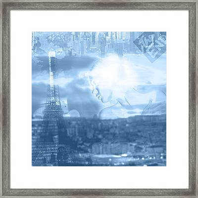 mysterious day in Paris Framed Print by Tommytechno Sweden