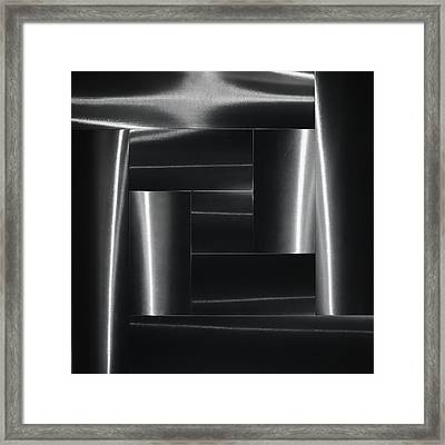 Mysterious Forms. Framed Print by Greetje Van Son