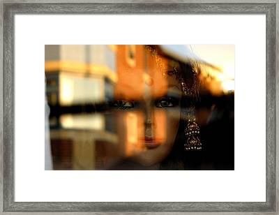 Mysterious Girl Framed Print by Jez C Self