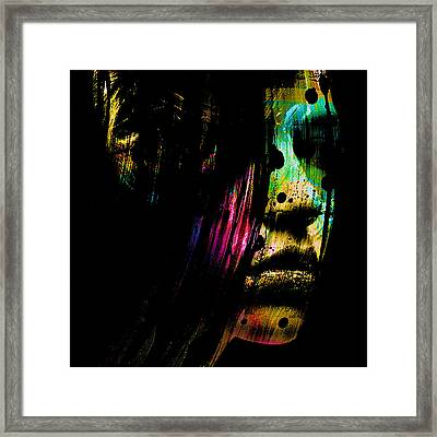 Mysterious Girl Framed Print by Marian Voicu