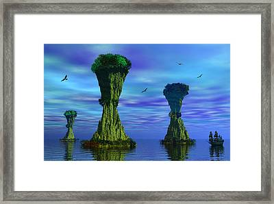 Mysterious Islands Framed Print