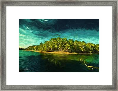Mysterious Isle Framed Print by Dennis Baswell