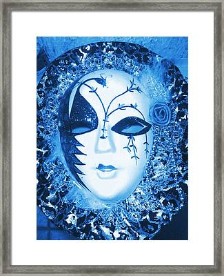 Mysterious Mask Framed Print by Anne-Elizabeth Whiteway