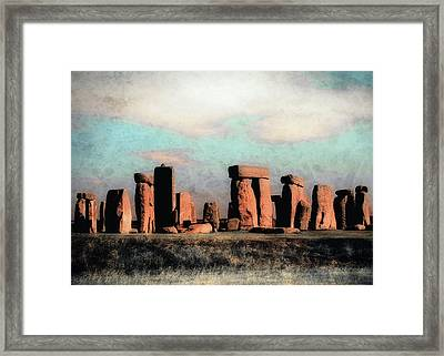 Framed Print featuring the photograph Mysterious Stonehenge by Jim Hill