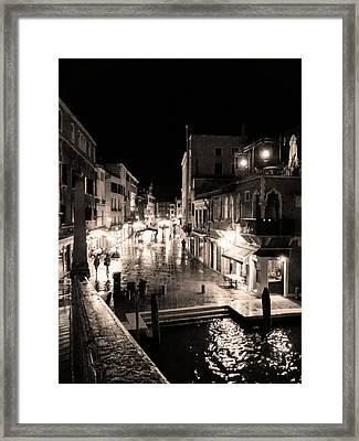 Mysterious Venice Monochrom Framed Print