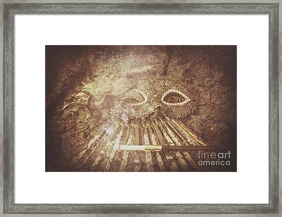 Mysterious Vintage Masquerade Framed Print