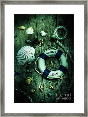 Mystery Aboard The Sunken Cruise Line Framed Print
