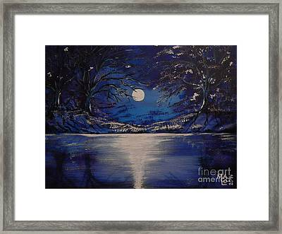 Mystery At Moonlight 1 Series Framed Print by Mario Lorenz