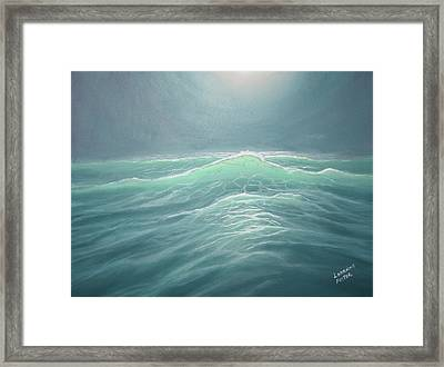Mystery At Sea Framed Print by Lorraine Foster