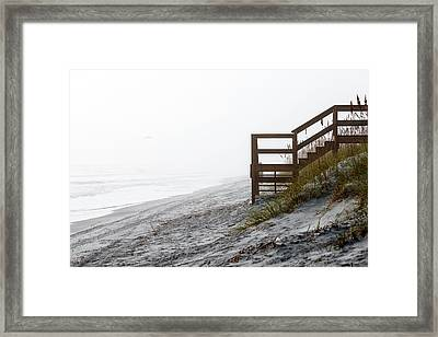 Framed Print featuring the photograph Mystery Beach by Anthony Baatz