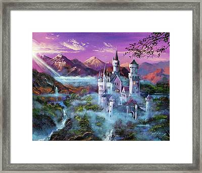 Mystery Castle Framed Print by David Lloyd Glover
