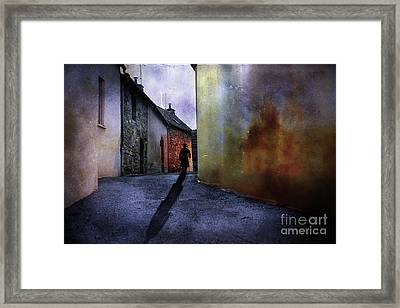 Framed Print featuring the mixed media Mystery Corner by Jim  Hatch