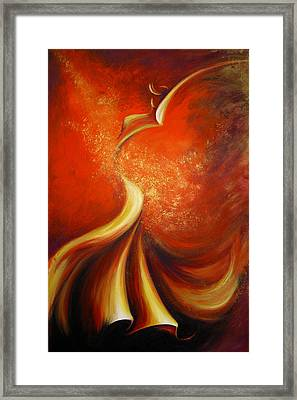 Framed Print featuring the painting Mystery Dance by Dina Dargo