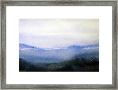Mystery Himalaya - Watercolor On Paper Framed Print by Samiran Sarkar