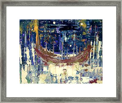 Mystery In The Clearing Framed Print