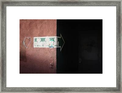 Framed Print featuring the photograph Mystery In The Doorway by Monte Stevens
