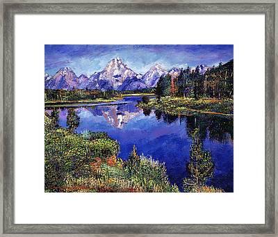 Mystery Lake Framed Print