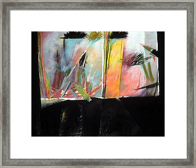 Mystery Landscape Framed Print by Sue Reed