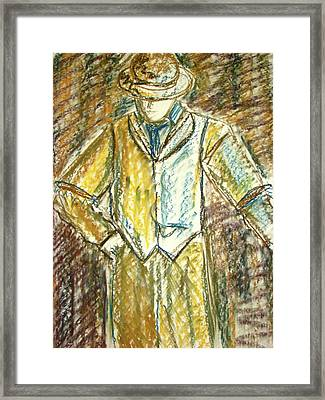 Framed Print featuring the painting Mystery Man by Cathie Richardson
