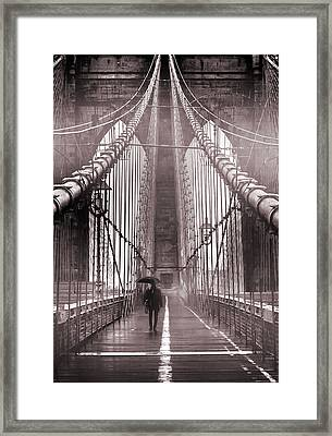Mystery Man Of Brooklyn Framed Print by Az Jackson