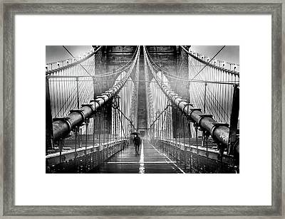 Mystery Manhattan Framed Print by Az Jackson