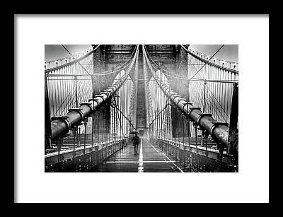 Suspension Bridge Framed Prints