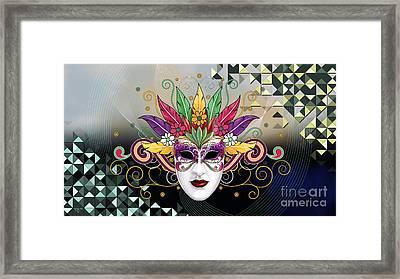 Mystery Mask Framed Print