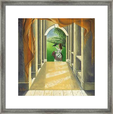 Mystery Messenger Framed Print by Gloria Cigolini-DePietro