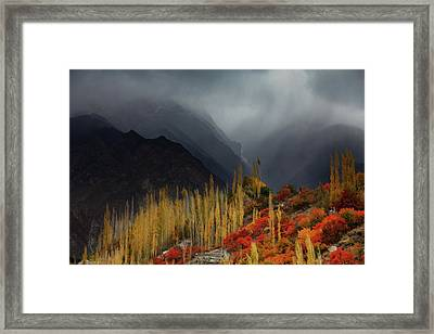 Mystery Mountains Framed Print