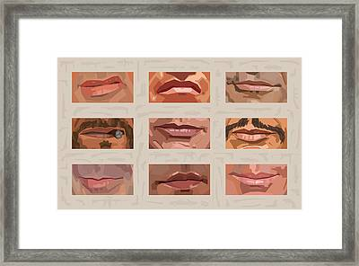 Mystery Mouths Of The Action Genre Framed Print by Mitch Frey