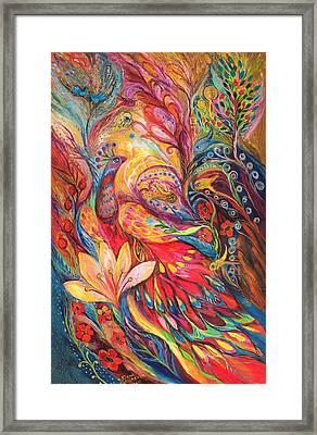 Mystery Of Blue Pigeons Framed Print by Elena Kotliarker