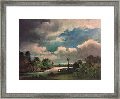 Framed Print featuring the painting Mystery Of God  The Eye Of God by Randol Burns